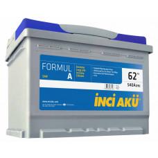 Аккумулятор INCI AKU FormulА 62 Ач, 540 А, обратная полярность ¹