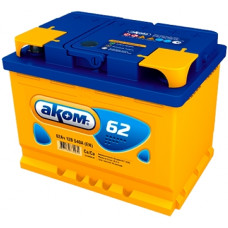Аккумулятор АКОМ  62 Ач, 540 А, прямая полярность ⁵
