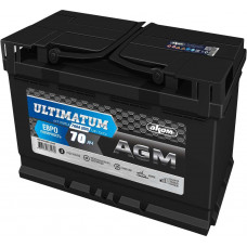Аккумулятор ULTIMATUM EURO 70 Ач, 760 А AGM, обратная полярность ⁵