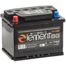 Аккумулятор SMART ELEMENT  60 Ач, 500 А, обратная полярность ²