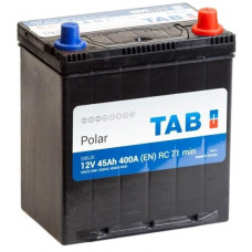 Аккумулятор TAB Asia Polar 45 Ач, 400 А (54520), обратная полярность, тонкие клеммы, нижний борт ²