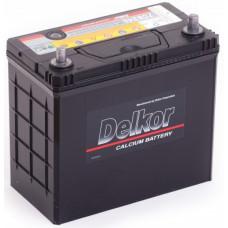 Аккумулятор DELKOR Asia  45 Ач, 430 А (60B24R), прямая полярность, тонкие клеммы ²