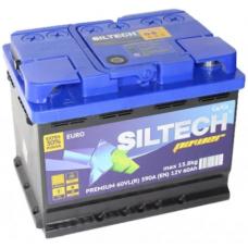 Аккумулятор SILTECH POWER 60 Ач, 590 А, низкий, обратная полярность ¹