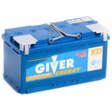 Аккумулятор GIVER ENERGY 100 Ач, 900 А, прямая полярность ²