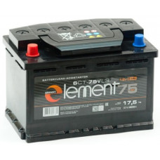 Аккумулятор SMART ELEMENT  75 Ач, 620 А, прямая полярность ²