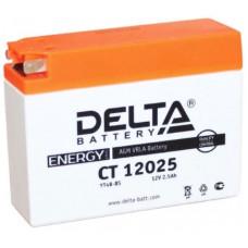 Аккумулятор DELTA CT 12В 2 Ач, 40 А (CT 12025, GT4B-5), обратная полярность ¹