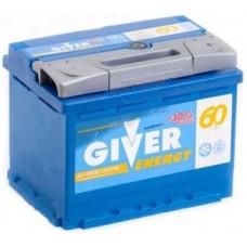 Аккумулятор GIVER ENERGY 60 Ач, 570 А, обратная полярность ²