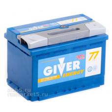 Аккумулятор GIVER ENERGY 77 Ач, 750 А, обратная полярность ²