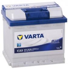 Аккумулятор VARTA Blue Dynamic 52 Ач, 470 А (C22), обратная полярность ¹