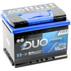 Аккумулятор DUO POWER  55 Ач, 550 А, обратная полярность ²