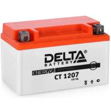 Аккумулятор DELTA CT 12В 7 Ач, 105 А (CT 1207, YTX7A-BS), прямая полярность, залитый ¹
