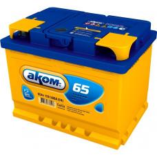Аккумулятор АКОМ  65 Ач, 580 А, обратная полярность ¹