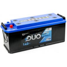 Аккумулятор DUO POWER  TT  140 Ач, 1000 А, российская полярность, конусные клеммы ²