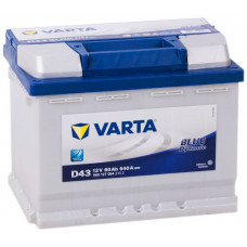 Аккумулятор VARTA Blue Dynamic 60 Ач, 540 А (D43), прямая полярность ²