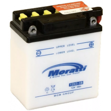 Аккумулятор MORATTI  12В 3 Ач, 30 А (12N3-3B, ME1203), сухо-заряженный, без электролита ¹