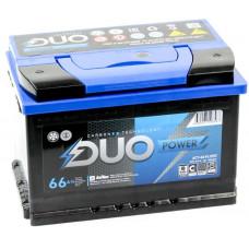Аккумулятор DUO EXTRA DUO POWER 66 Ач, 650 А, обратная полярность ²