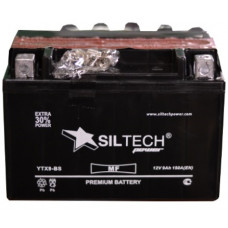 Аккумулятор SILTECH DC MF 12В 9 Ач, 150 А (YTX9-BS) AGM, прямая полярность, сухо-заряженный, с электролитом ¹