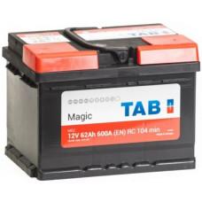 Аккумулятор TAB MAGIC 62 Ач, 600 А (56249), низкий, обратная полярность ²