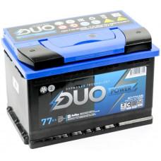 Аккумулятор DUO POWER  77 Ач, 750 А, прямая полярность ²