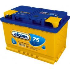 Аккумулятор АКОМ + 75 Ач, 720 А EFB, прямая полярность ⁵