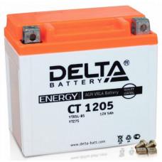 Аккумулятор DELTA CT 12В 5 Ач, 80 А (CT 1205, YT5L-BS), обратная полярность, залитый ¹
