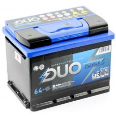 Аккумулятор DUO POWER  64 Ач, 640 А, обратная полярность ²