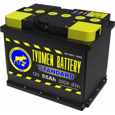 Аккумулятор TYUMEN BATTERY (ТЮМЕНЬ) STANDARD 55 Ач, 500 А Ca/Ca, прямая полярность ¹