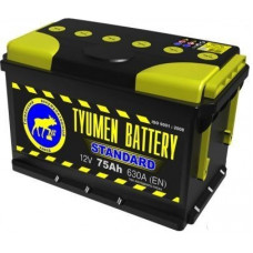 Аккумулятор TYUMEN BATTERY (ТЮМЕНЬ) STANDARD 75 Ач, 630 А Ca/Ca, прямая полярность ¹