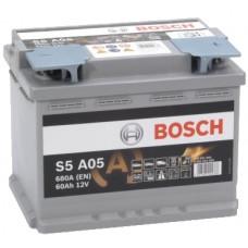 Аккумулятор BOSCH S5 60 Ач, 680 А AGM, обратная полярность ²